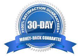 Thirty day MONEY Back Guarantee
